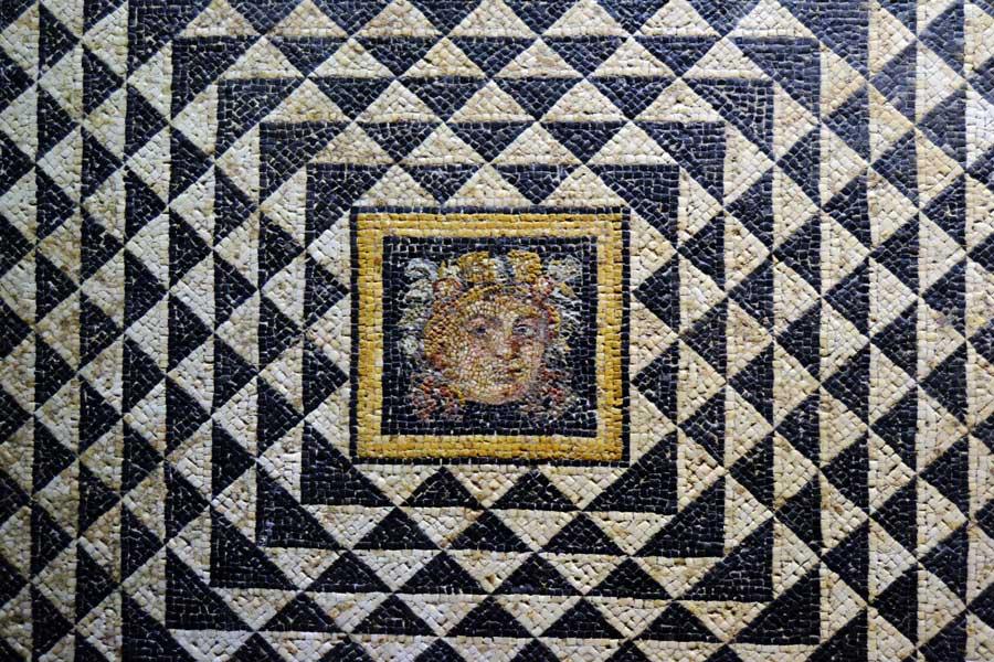 Zeugma Mozaik Müzesi fotoğrafları Dionysos mozaiği detayları - Dionysus mosaic's details, Zeugma Mosaic Museum Gaziantep Southeastern Anatolia region