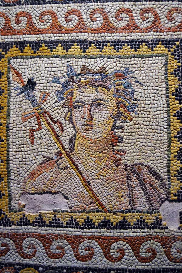 Zeugma Mozaik Müzesi fotoğrafları Dionysos mozaiği detayları - Dionysus mosaic's details, Zeugma Mosaic Museum Southeastern Anatolia region