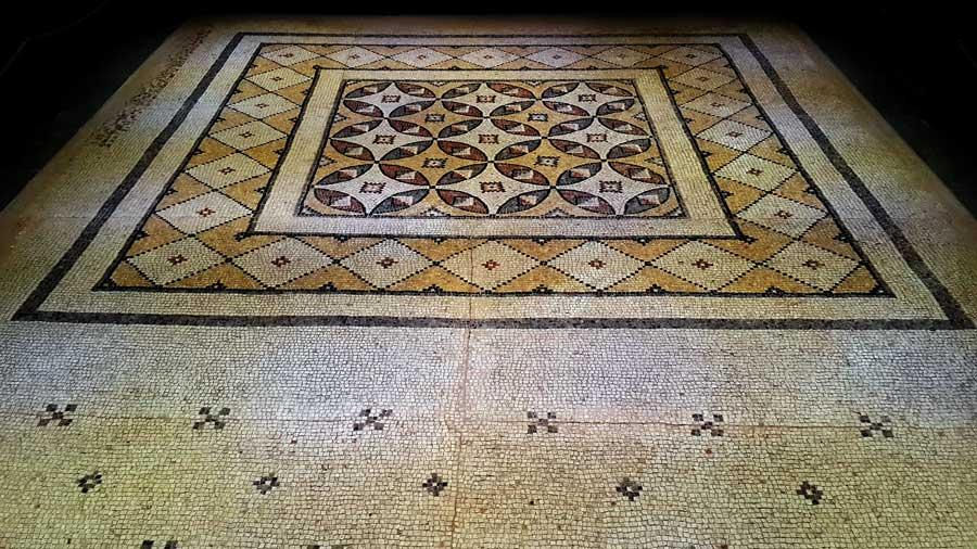 Zeugma Mozaik Müzesi fotoğrafları Geometrik mozaik - Geometric mosaic, Zeugma Mosaic Museum