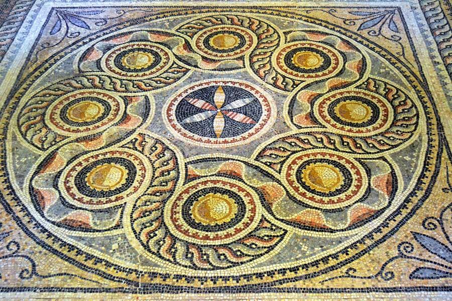 Zeugma Mozaik Müzesi fotoğrafları geometrik mozaik, Gaziantep - Geometric mosaic, Zeugma Mosaic Museum Southeastern Anatolia region