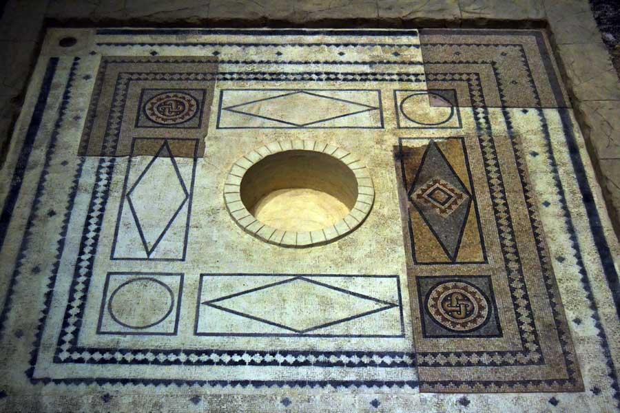 Zeugma Mozaik Müzesi fotoğrafları hamam mozaikleri Gaziantep - Baths complex mosaics at Zeugma Mosaic Museum Southeastern Anatolia region Turkey
