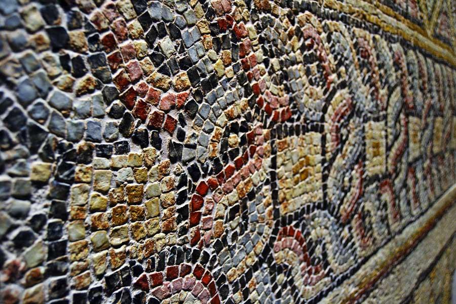 Zeugma Mozaik Müzesi fotoğrafları mozaik çerçevesi - Mosaic border at Zeugma Mosaic Museum Southeastern Anatolia region Turkey