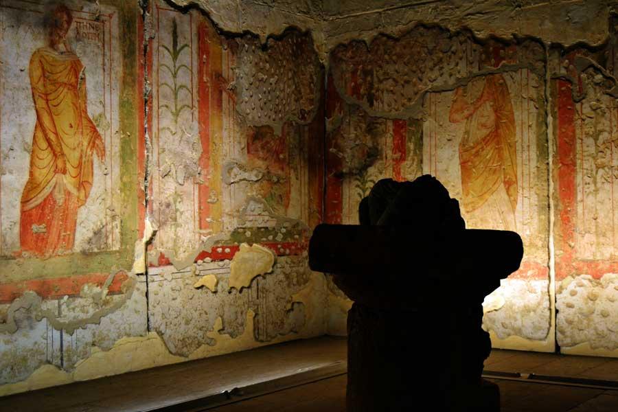 Zeugma Mozaik Müzesi fotoğrafları orijinal Freskler - Frescos Zeugma Mosaic Museum Southeastern Anatolia region Turkey