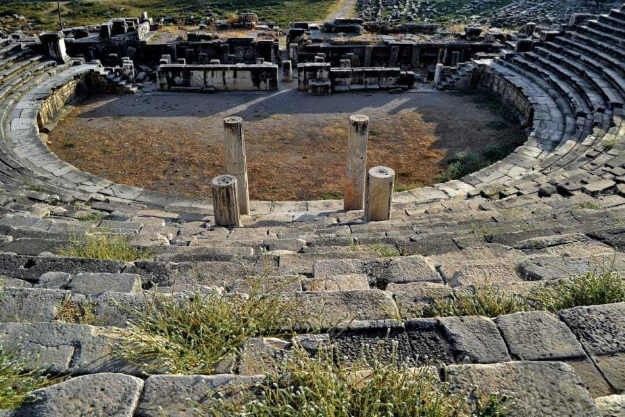 Antik roma tiyatrosu, Milet antik kenti fotoğrafları - ancient roman theatre, Miletus ancient city photos