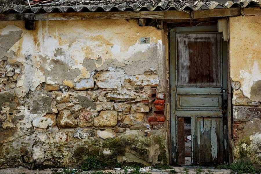 Çanakkale Biga ilçesi Kemer köyü Rum evleri - Greek house, Kemer village Biga district
