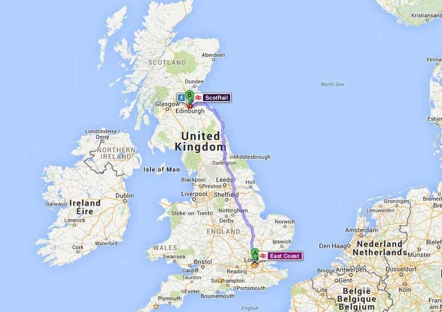 İngiltere Güzergahı ve Rotası (England route)