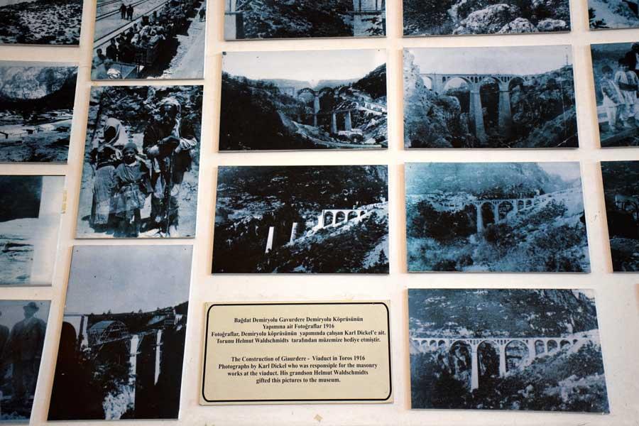 İstanbul Demiryolu Müzesi, Tarihi Gavurdere Demiryolu köprüsü yapımı fotoğrafları, yıl 1916 - Historical Gavurdere railway bridge construction photos (1916), Istanbul Railway Museum