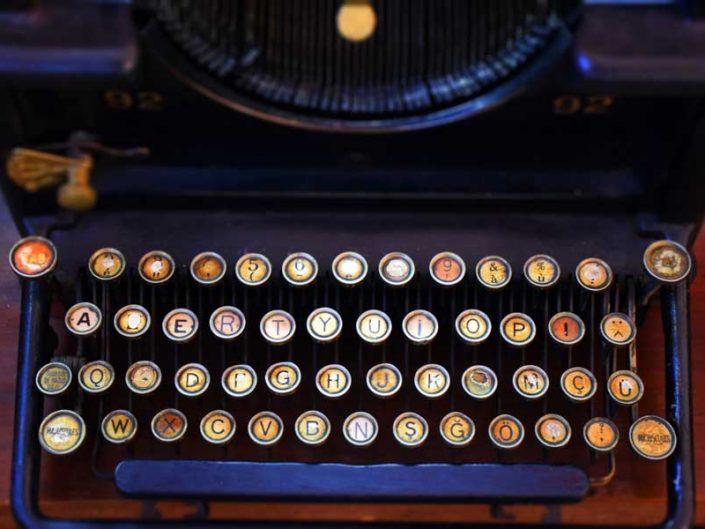 İstanbul Demiryolu Müzesi antika daktilo - Antique typewriter, Istanbul Railway Museum