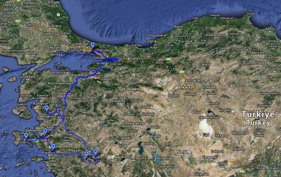 Ege Turları, İzmir Şirince Denizli ve Afrodisias Güzergahı