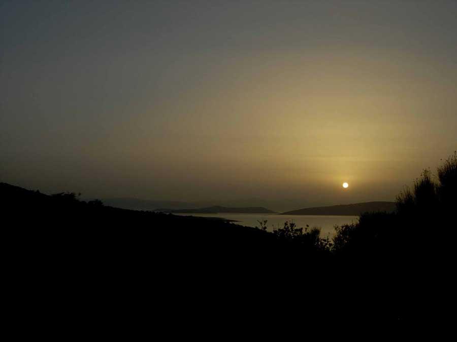 Şirince Denizli güzergahı fotoğrafları güneş batarken - Sirince Denizli route photos when the sun sets off