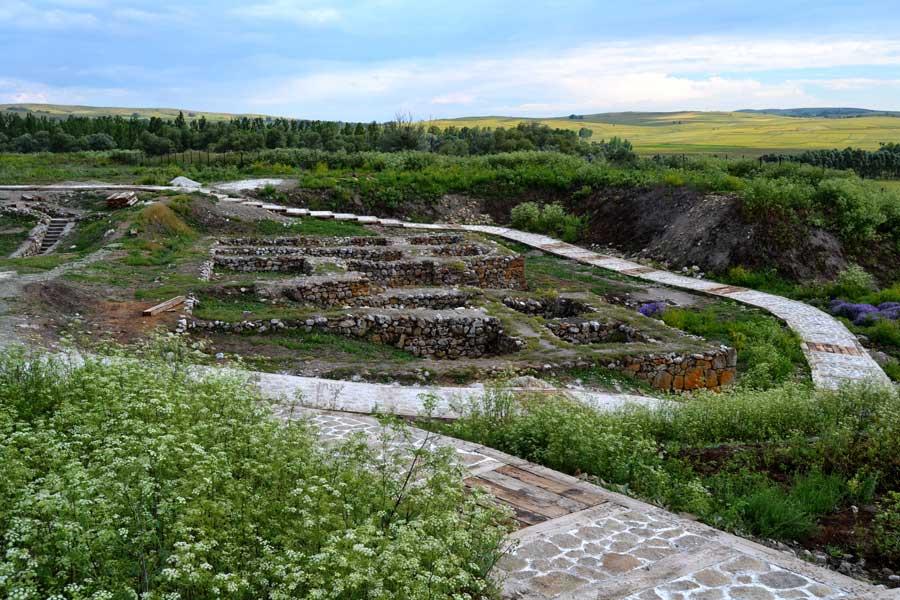 Alacahöyük antik yerleşimi genel görünümü, Çorum - General view of ancient settlement of Alacahöyük, Turkey