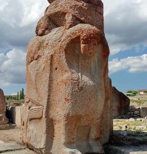Alacahöyük fotoğrafları, Alacahöyük sfenksli kapı ve çift başlı kartal kabartması Çorum - Alacahöyük sphinx gate and double headed eagle relief, Turkey