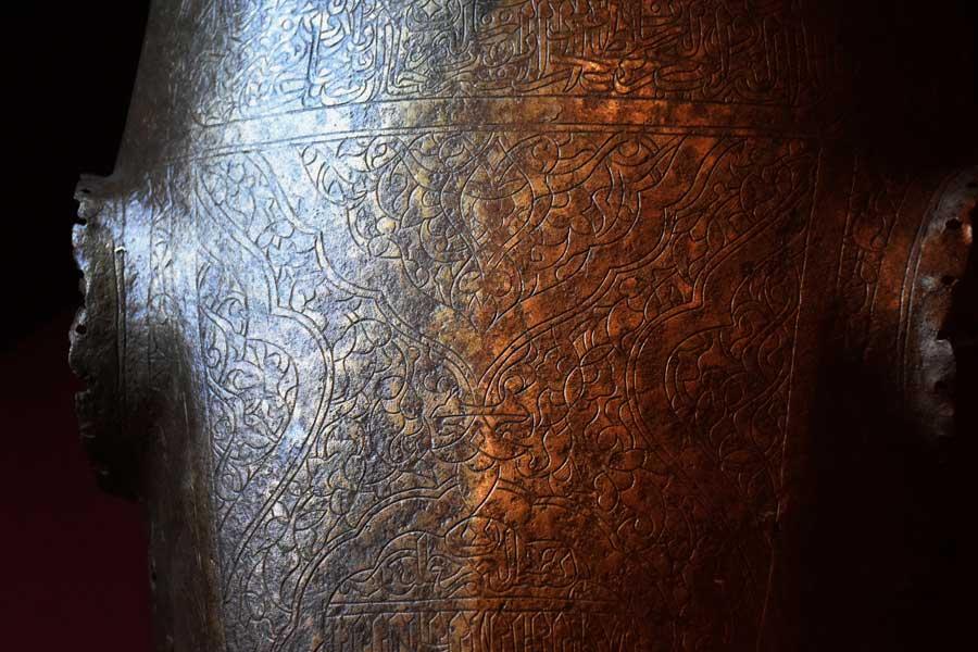 Askeri Müze fotoğrafları Yavuz Sultan Selim'in atı için yapılan Demir at alın zırhı, 16.yy. - Iron Chamfron made for Sultan Selim I's horse. 16th century, Military Museum