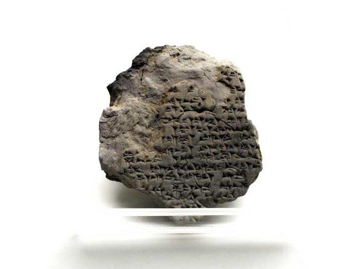 Boğazköy Müzesi Hitit dönemi çivi yazısı, Gece tanrısının rahibi olan Walkui'nin ritüeli - Bogazkoy Museum Hittite Period cuneiform, The ritual of Walkui, the priest of the night god