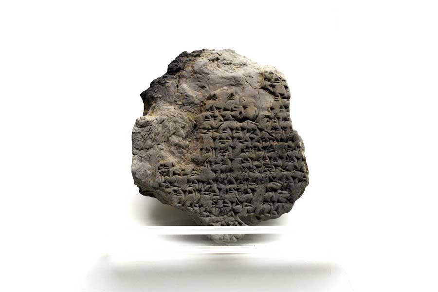 Boğazköy Müzesi Hitit dönemi çivi yazısı, Gece tanrısının rahibi olan Walkui'nin ritüeli - Bogazkoy Museum Hittite Period cuneiform, The ritual of Walkui, the priest of the night god