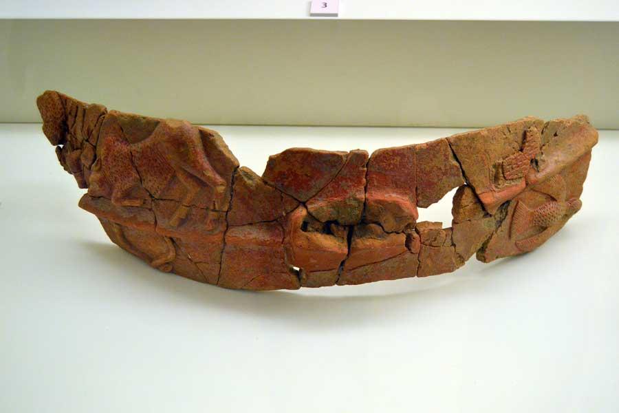 Boğazköy Müzesi eserleri Hitit dönemi vazo kabartmaları - Corum Bogazköy Museum Hittite period reliefs of vessel