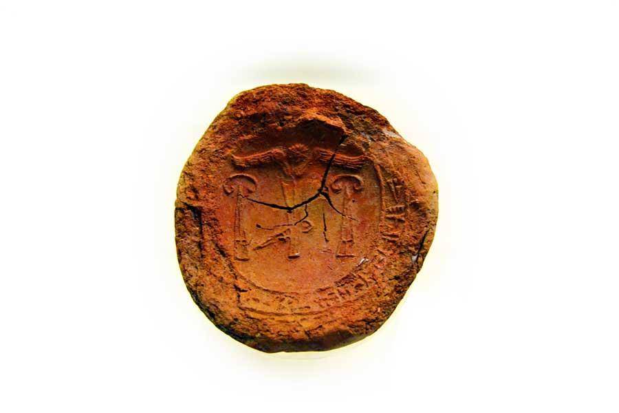 Boğazköy Müzesi fotoğrafları Hitit dönemi düğme biçimli mühür - Bogazkoy Museum Hittite period, button seal, Corum
