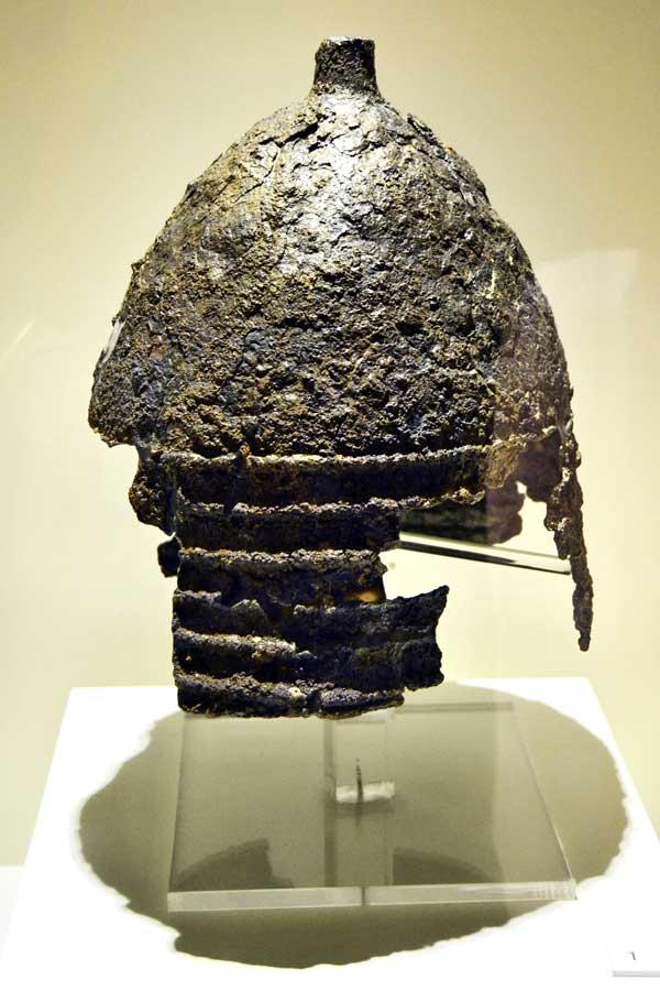 Boğazköy Müzesi fotoğrafları Hitit savaş miğferi - Corum Bogazköy Museum photos Hittite war helmet