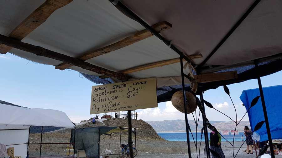 Burdur gezilecek yerler Salda gölü - Turkey the Mediterranean region Salda Lake