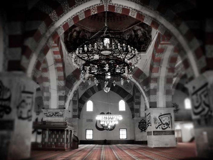 Edirne Eski Cami fotoğrafları hat yazıları - Edirne Old Mosque Islamic calligraphy photos