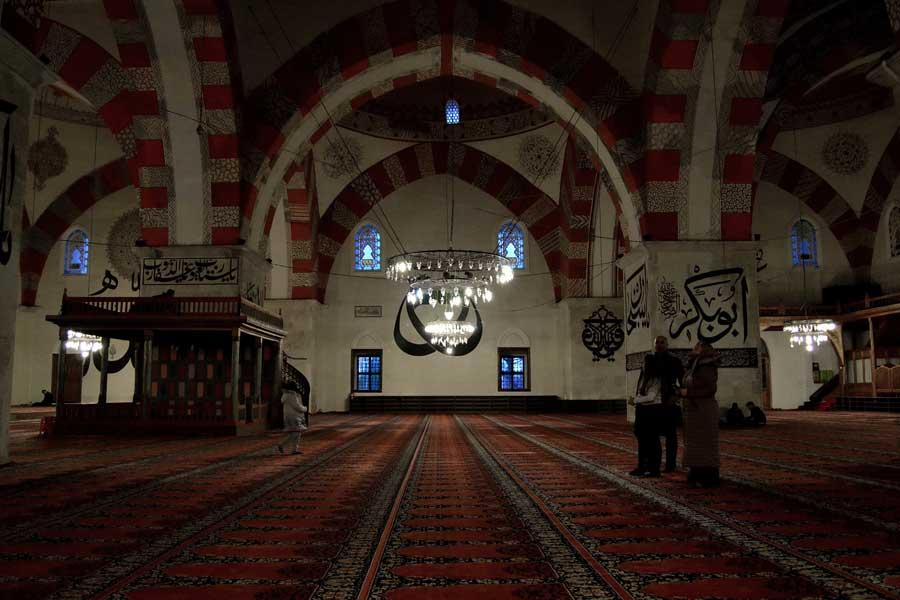 Edirne Eski cami içi ve hat yazıları Eski Cami fotoğrafları - Edirne Old Mosque photos