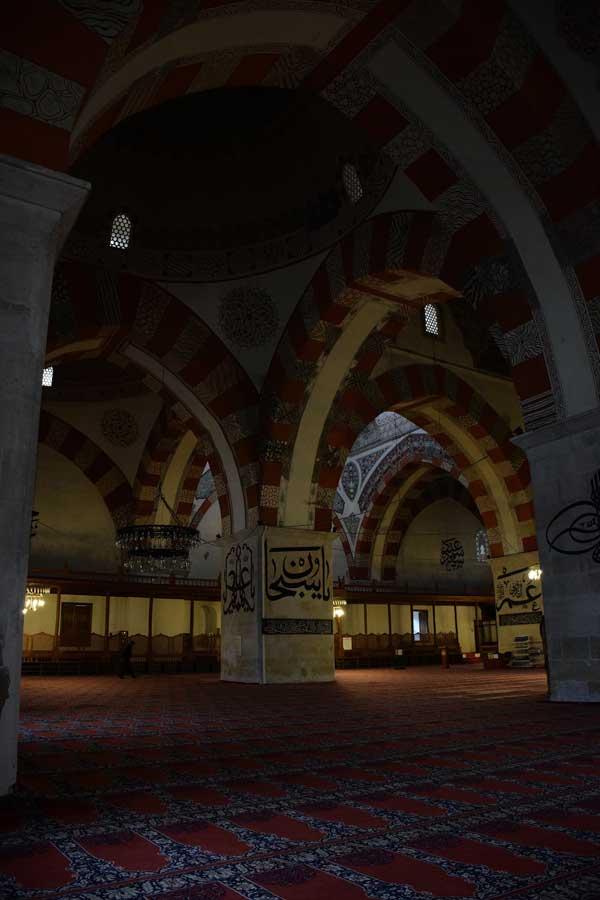 Eski Cami fotoğrafları cami içi - Edirne Old Mosque Islamic calligraphy photos