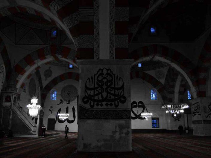 Eski cami içi fotoğrafları, Edirne- interior Old Mosque photos
