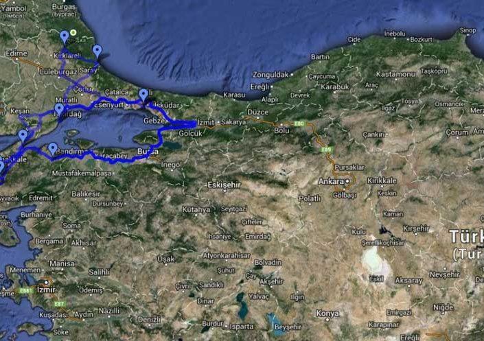 Gelibolu Dupnisa güzergahı - Gallipoli Dupnisa route