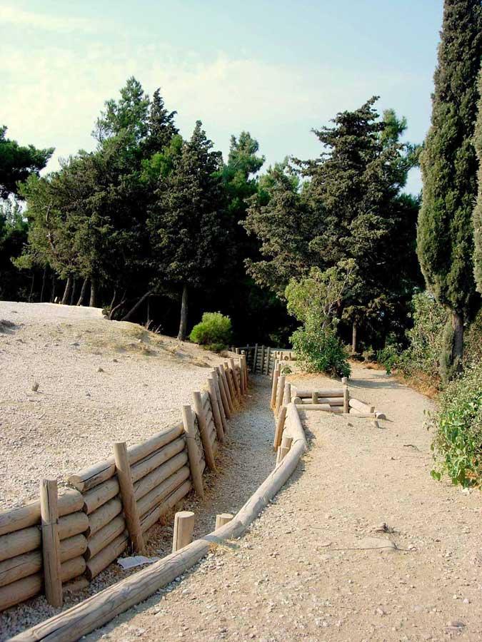 Gelibolu güzergahları siperleri takip ettik - Gallipoli Dupnisa route, followed the trenches