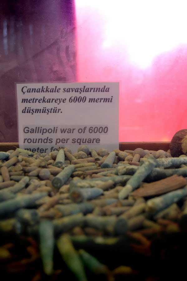 Gelibolu mermiler (Salim Mutlu Müzesi) - bullets, Gallipoli photos