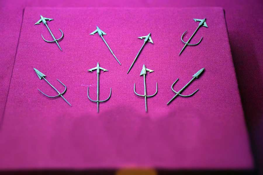 Harbiye Askeri Müze fotoğrafları Yangın oku Temrenleri, Türk 17.yy. - Arrowheads for fire arrow, Turkish 17th Century, Military Museum