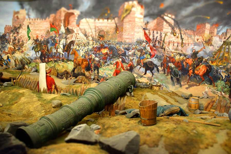 Harbiye Askeri Müzesi İstanbul'un fethi canlandırması - Istanbul Military Museum conquest of Istanbul animation
