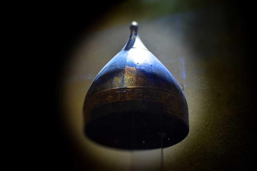 Harbiye Askeri Müzesi eserleri Demir miğfer, Osmanlı 16.yy. - Iron helmet, Ottoman 16th century, Istanbul Military Museum