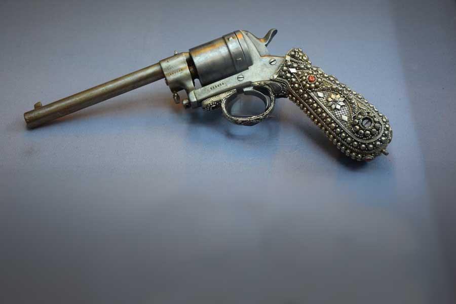 Harbiye Askeri Müzesi eserleri Toplu Tabanca Model 1820 - Revolving Pistol model 1820 Harbiye Military Museum