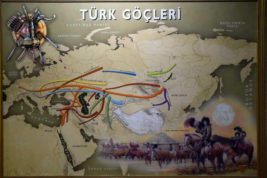 Harbiye Askeri Müzesi eserleri fotoğrafları Türk Göçleri tablosu - Turk migrations painting, Military Museum