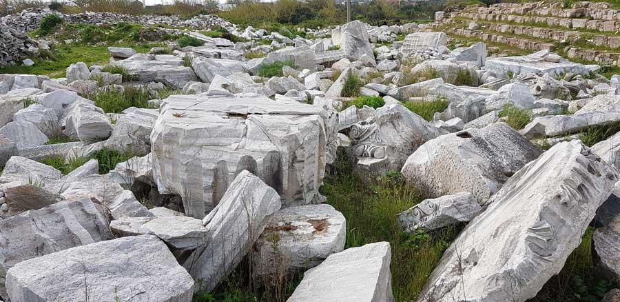 Kapıdağ yarımadası Erdek Kyzikos antik kenti kalıntıları - Kapidag peninsula ruins of Kyzikos ancient city Bandirma