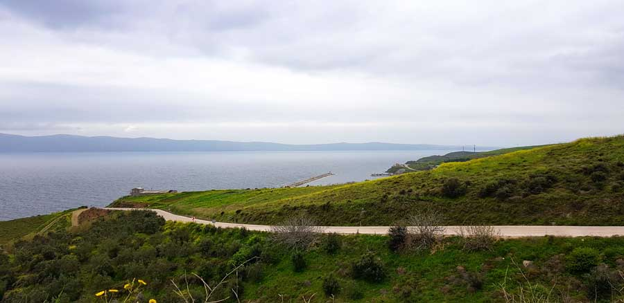 Kapıdağ yarımadası yolu Marmara bölgesi - Marmara region Kapidag peninsula road, Turkey