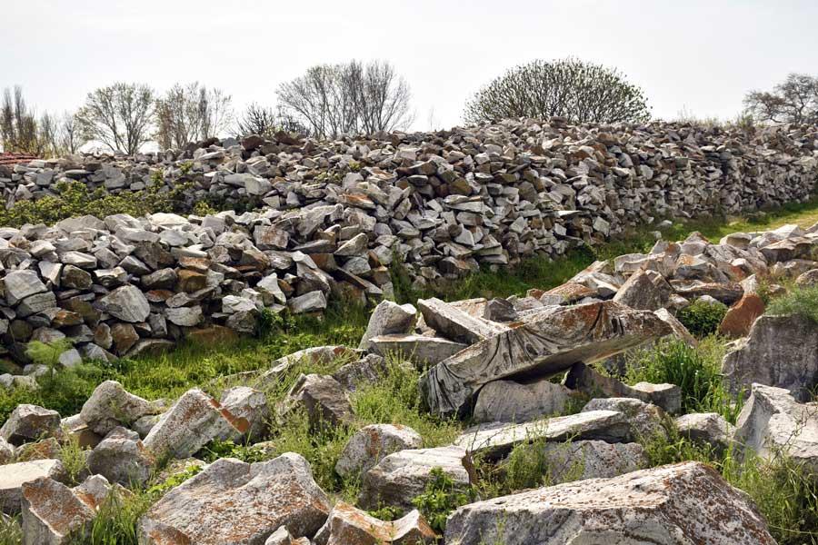 Kyzikos antik kenti kalıntıları Kapıdağ yarımadası Balıkesir - Ruins of Kyzikos ancient city Erdek Turkey