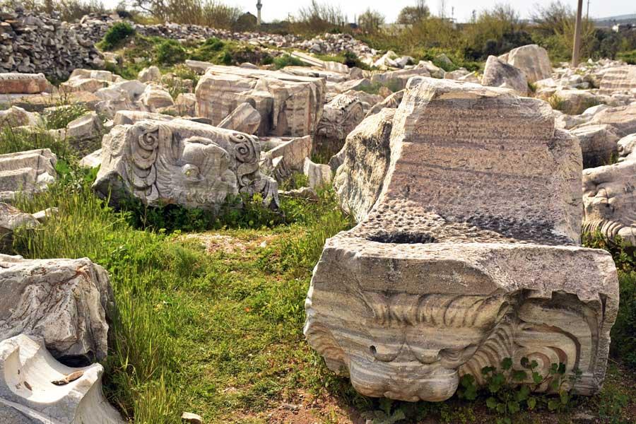 Kyzikos antik kenti kalıntıları Kapıdağ yarımadası Balıkesir fotoğrafları - Ruins of Kyzikos ancient city Erdek Turkey