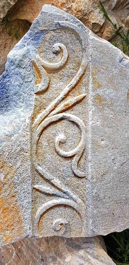 Kyzikos antik kenti mermer süslemesi Kapıdağ yarımadası Erdek Bandırma - Kyzikos ancient city marble decoration, Kapidag peninsula Turkey