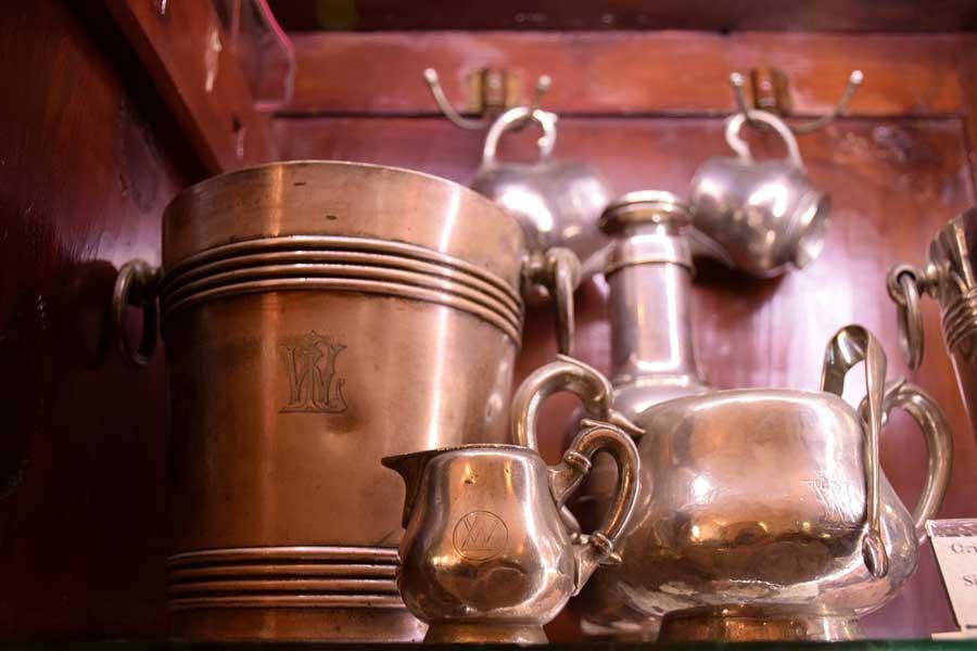 Orient Ekspres gümüş servis yemek takımları İstanbul demiryolu müzesi fotoğrafları - Orient Express silver service dinner sets, Istanbul Railway Museum photos