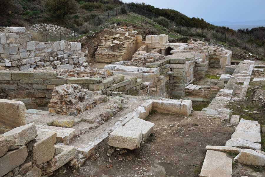 Parion antik kenti Kemer, Biga, Antik tiyatro - ancient theatre, Parion ancient city photos