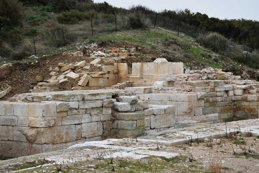 Parion antik kenti fotoğrafları Kemer, Biga, Antik tiyatro - ancient theatre Parion ancient city photos