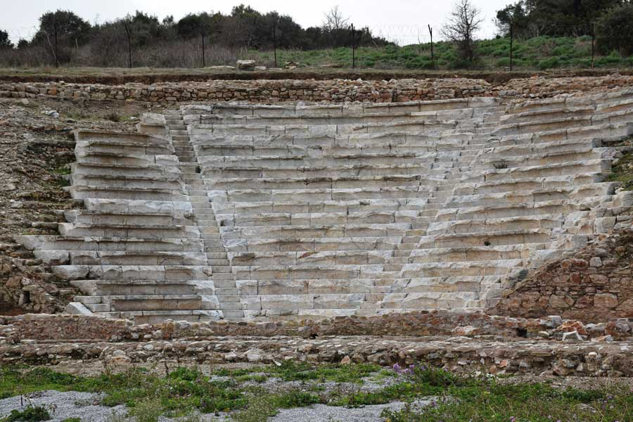 Parion antik kenti fotoğrafları Kemer Biga, Odeion - Odeon, Turkey Marmara region Parion ancient city