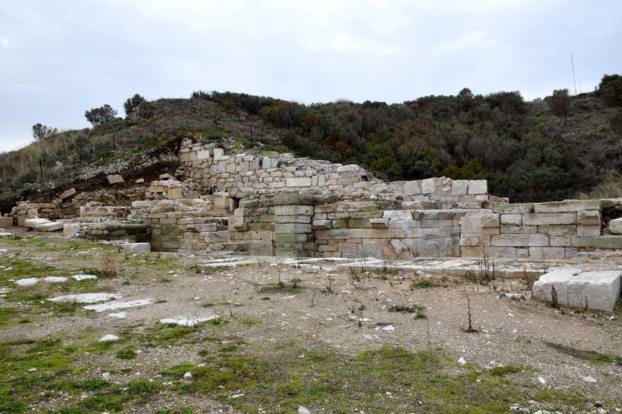 Parion antik kenti fotoğrafları Kemer Biga, agora ve dükkanlar - agora and shops, Parion ancient city