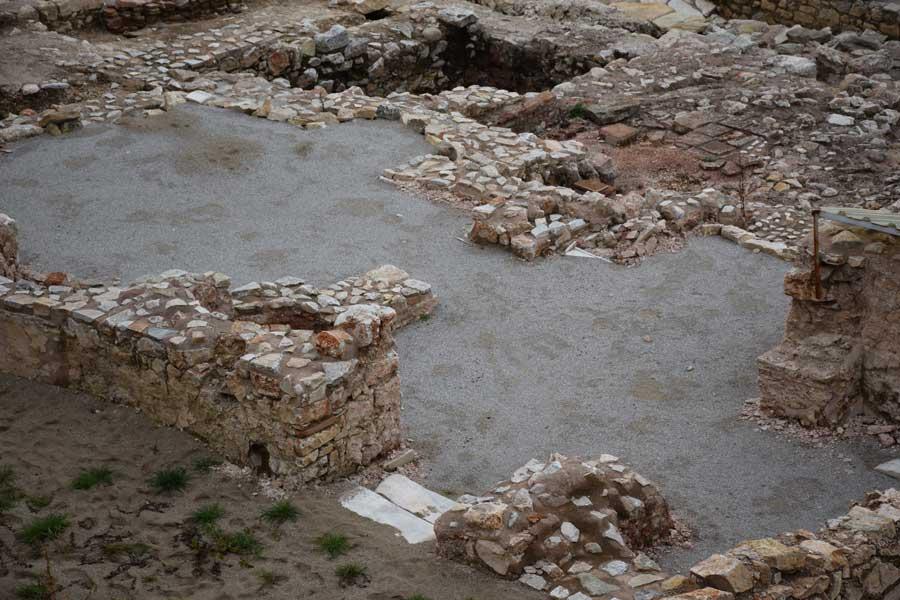 Parion antik kenti fotoğrafları Kemer Biga yamaç evleri ve hamam - sloped building and bath, Parion ancient city photos