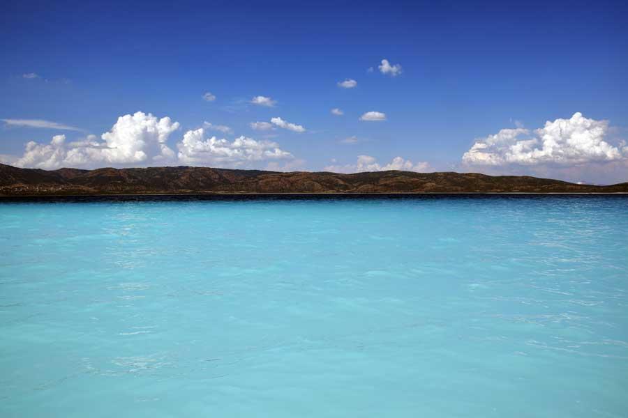 Salda gölü fotoğrafları turkuaz rengi - Burdur turquoise color of Salda Lake