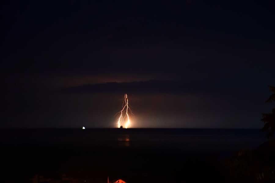 Seddülbahir köyü Ertuğrul koyu yıldırım fotoğrafları - Gallipoli Seddulbahir lightning photos