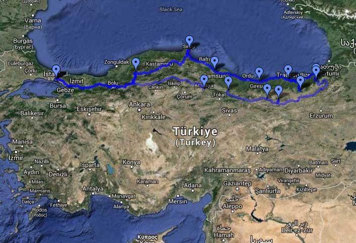 Trans Karadeniz güzergahı fotoğrafları - Trance Black Sea region route