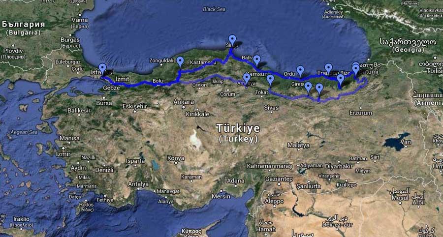 Trans Karadeniz Turu Güzergahı ve Rotası Detaylı Bilgileri